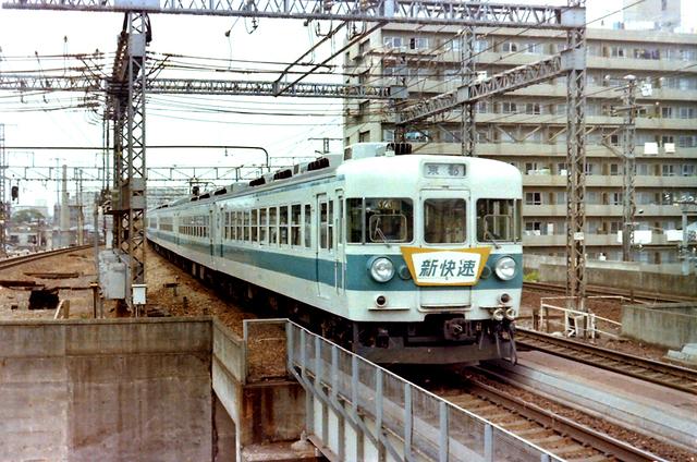153系ブルーライナー明石駅入線.JPG